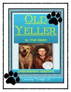old yeller study guide answers