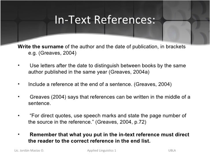 harvard in text referencing guide