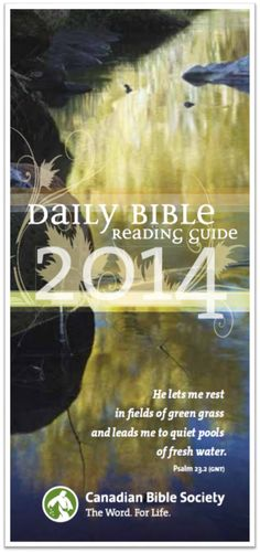 canadian bible society daily bible reading guide 2018