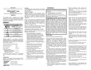 proclear multifocal contact lenses fitting guide